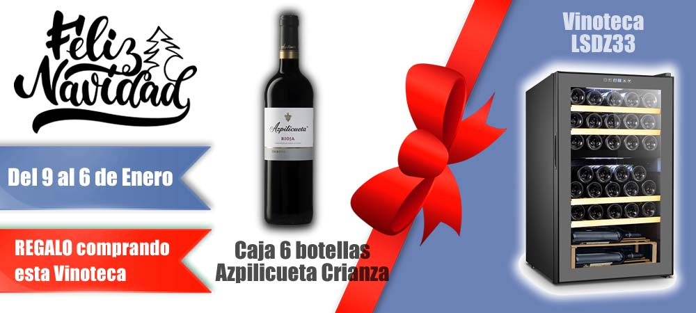 Navidad oferta Vinotecas Vitempus LSDZ33