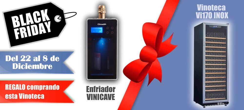 Black Friday 2019 Vinoteca rebajada Vi170 INOX